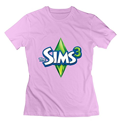 Women's Funny The Sims 3 Tee Size L Color Pink (Sims 3 Clothes compare prices)