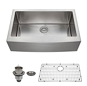... Apron Deep Single Bowl 16 Gauge Stainless Steel Luxury Kitchen Sink
