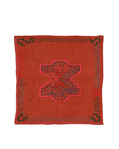 Uptown Down Found Textile Panel, Orange