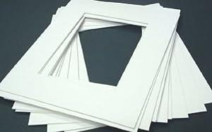 10 7x5 picture / photo mounts, conservation photo-safe fit 6x4 pics (Antique White Textured)