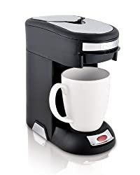 Café Valet Black/Silver Single Serve Coffee Brewer, Exclusively for use with Café Valet Coffee Packs by Courtesy Brands LLC