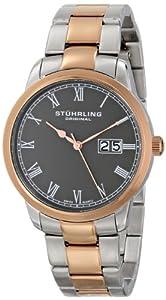 Stuhrling Original Men's 831B.03 Classic Cuvette Panache Elite Analog Display Swiss Quartz Two Tone Watch