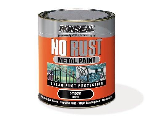 Ronseal NRSMBL250 250ml No Rust Metal Paint - Smooth Black