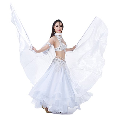 AvaCostume Exotic Belly Dance Costume Big Isis Wings