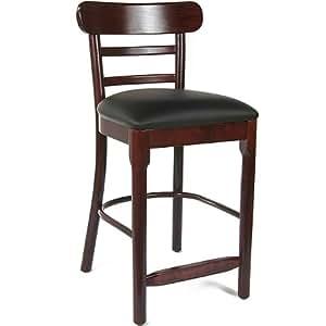 Counter Height Stools Amazon : Amazon.com - Salem Wood Counter Height Bar Stool (Dark Mahogany ...