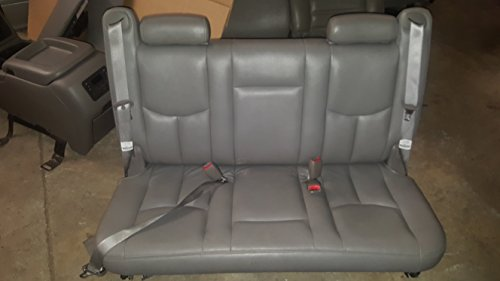 00-06 CHEVY SUBURBAN YUKON XL TAHOE REAR 3RD THIRD ROW BACK BENCH GRAY LEATHER SEAT SEATS (Tahoe Third Row Seat compare prices)