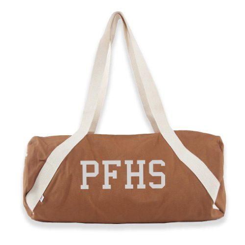 PFHS Diagonal Strap Gym Bag, Camel w/ White