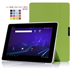 IVSO Slim Smart Cover Housse pour ASUS MeMO Pad FHD 10 ME302C Tablette with Auto Sleep/Wake Function (Vert)