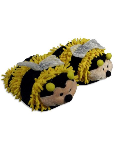 Cheap Fuzzy Friends Slippers – Ladies Bee Slippers, Yellow, Black 25340 (B005ZVNXYE)