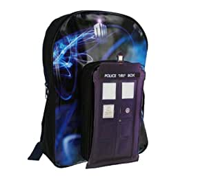 Trade Mark Collections Dr Who Backpack with Tardis Shaped Front Pocket