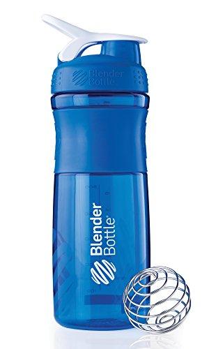 Blenderbottle Sportmixer 28-Ounce, Blue/White