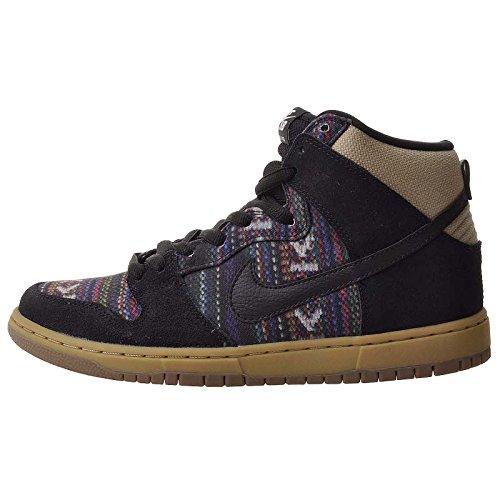 Nike Men'S Dunk High Premium Sb, Multi-Color/Black/Gym Light Brown, 11 M Us