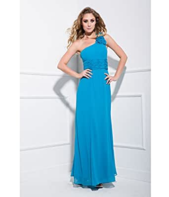 2014 Prom Dresses - Turquoise One Shoulder Prom Dress