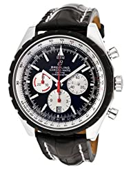 Men's Navitimer Automatic/Mechanical Chronograph Black Dial Black Crocodile
