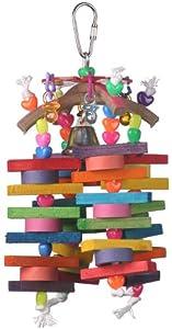 Super Bird Creations 8-1/2 by 4-Inch Thing-a-ma-bob Bird Toy, Medium