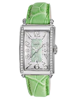 Gevril Women's 7246NE Mini Quartz Avenue of Americas Green Diamond Watch by Gevril