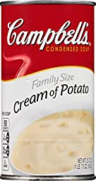 Campbell\'s Condensed Soup, Cream of Potato, Family Size, 23 Ounce (Pack of 12)