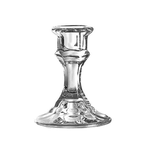 Syndicate Sales 4″ Candlestick Holder, Clear