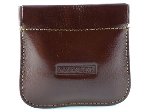 Spring Top Snap Top Mens Coin Purse - Tan-Branded by Golunski