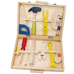 Caisse boite outils jouet en bois jeu d 39 imitation enfant 3 ans 10 l ments - Caisse a outils enfant ...