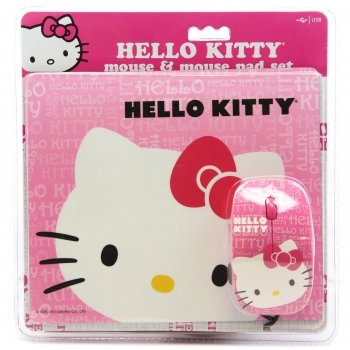 [Hello Kitty Mouse and Mouse Pad Set Combo Pink] (Dance Costumes Atlanta)