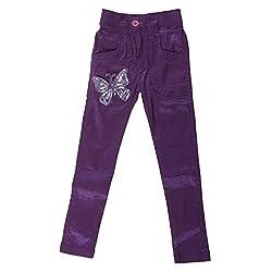 Little Kangaroos Girls Purple Pant (8903208870890_Purple_12-18 Months)