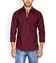 Tuscans Men Brown Slim Fit Casual Shirt_QSS2_BROWN_M
