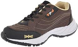 Poddar Mens Brown PU Cricket Shoes - 8 UK