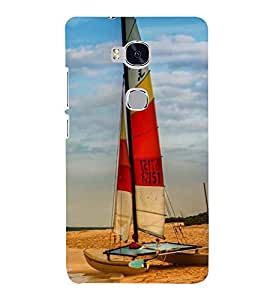 Printvisa Premium Back Cover Beautiful Yatch At Beach Design For Huawei Honor 5X:: Huawei Honor X5::Huawei GR5