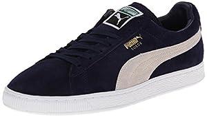 PUMA Men's Suede Classic + Sneaker, Peacoat/White, 10 M US