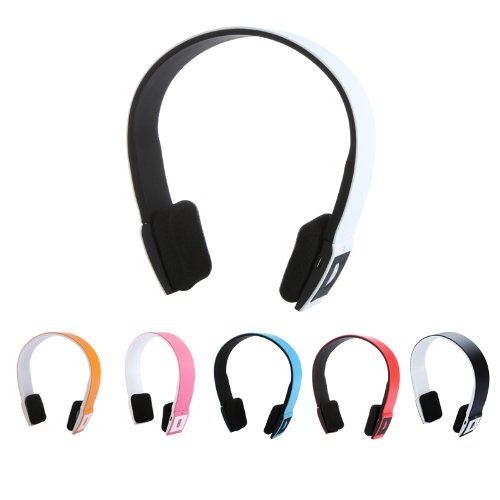 2.4G Wireless Bluetooth V3.0 + Edr Headset Headphone With Mic Bluetooth Stereo Headset With Microphone-In For Iphone 4/4S /Ipad 2 3 /Ps3 - Connect Two Bluetooth Equipments At The Same Time (White)