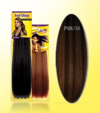 Beauti-Collection-Human-Hair-Weave-Yaki-Weave-18-P1B33-Piano-Red-Size-18