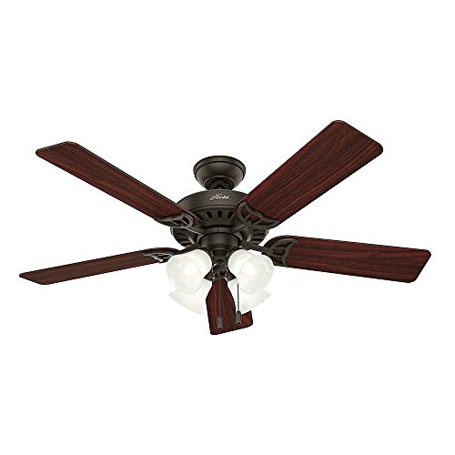 Hunter 53067 Studio Series 52-inch New Bronze Ceiling Fan with Five Walnut/Cherry Blades and Light Kit (Bronze Ceiling Fan 52 compare prices)