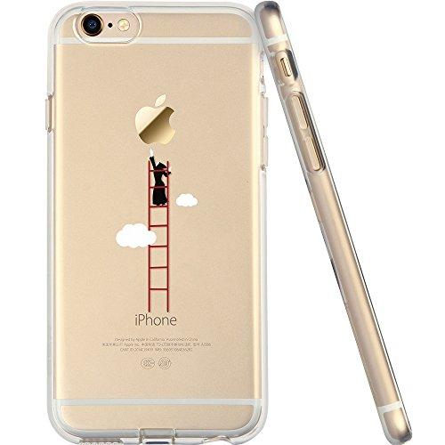 iPhone6 ケース クリア ESR iPhone6s ケース シリコン TPUソフト バンパー 耐衝撃 保護キャップ付き iPhone6/ iPhone6s カバー (雲の階段)