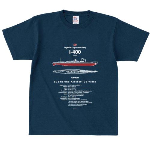 伊四〇〇型潜水艦 Tシャツ 半袖 / 男女兼用 (S, 69ネイビー) [ウェア&シューズ]
