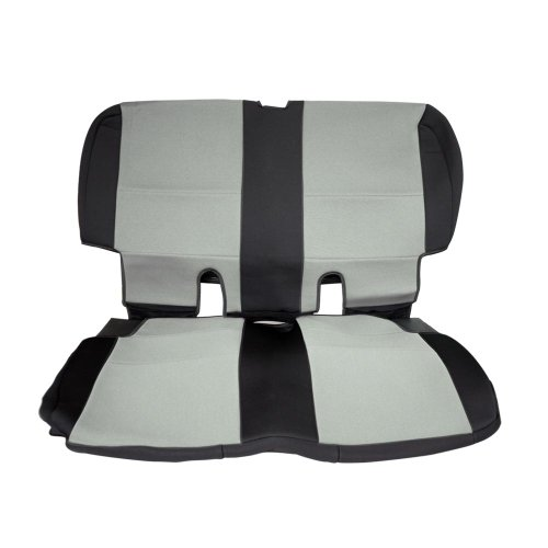 Leader Accessories 2003-2006 Tj 2 Door Classic Rear Bench Seat Covers For Jeep Wrangler Tan/Black front-314655
