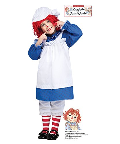 Girls Raggedy Ann Toddler Halloween Costume