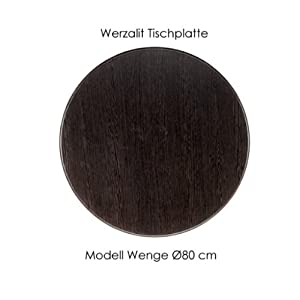 werzalit tischplatte wenge 80cm f r bistrotische gartentische balkontische uvm garten. Black Bedroom Furniture Sets. Home Design Ideas