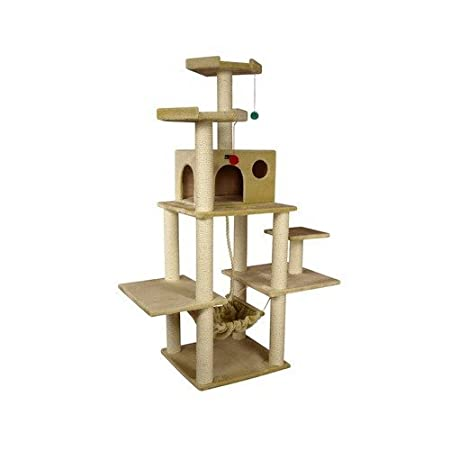 The Armarkat Cat Tree Furniture Condo is big and sturdy.