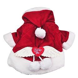 Dog Costumes Dog Coat Santa Fancy Dress Suit ,X'mas Gift Cute Puppy Cotton Clothes Costume Pet Superman Suit (L) from Move&Moving