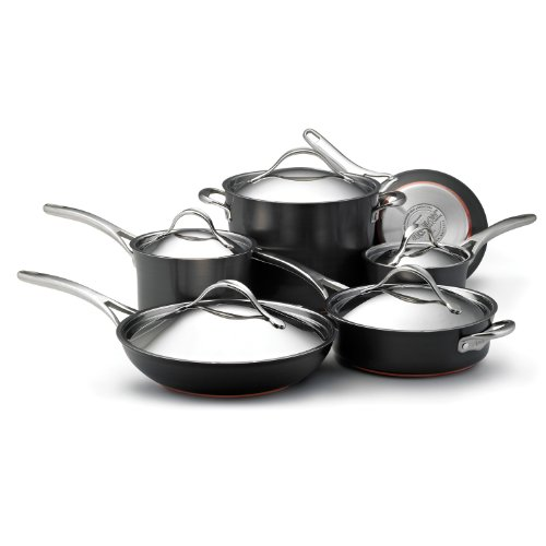 Anolon Nouvelle Copper Hard Anodized Nonstick 11-Piece Cookware Set