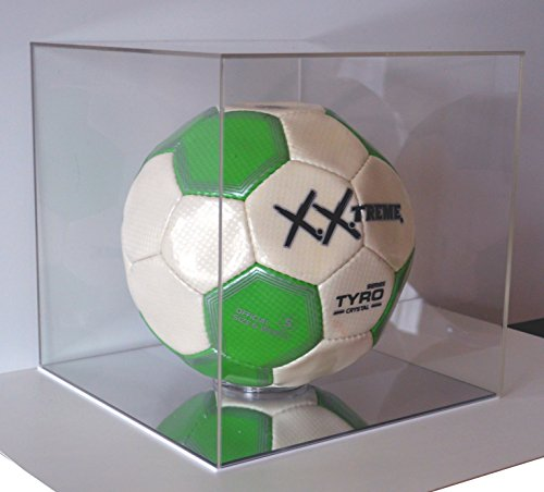 Fuball-Schaukasten-Display-Cube-Wrfel-Vitrine-aus-Acryl-Glas-25x25x25-cm-Gro-Klar