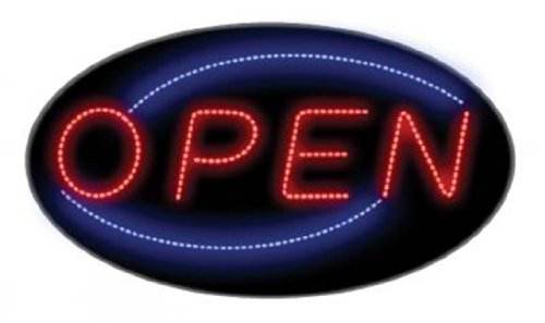 Creative Motion Hanging Oval Led Open Sign