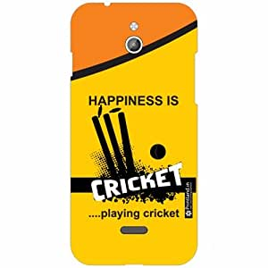 Infocus M2 Back Cover -Silicon Happiness Is Cricket Designer Cases