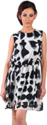 Mabyn Women's A-Line Dress (SSSSD11 _S, Black, S)