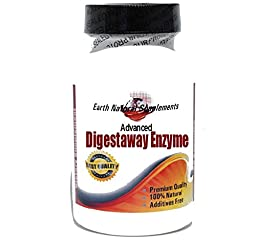 Advanced Digestaway Enzyme * 90 Caps 100 % Natural - by EarhNaturalSupplements
