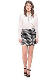 Monochrome Overlap Skirt