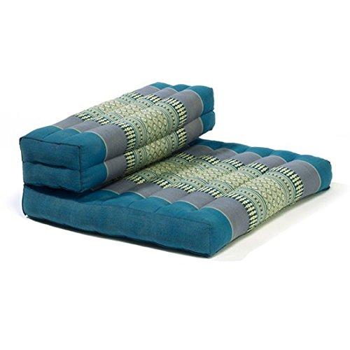 myZENhome Organic Kapok Filled Dhyana Meditation Cushion (Aqua)