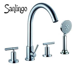 Sanlingo Design 4Loch Wannenarmatur Wannenrand  Armatur für Badewanne CHESTER  BaumarktBewertungen