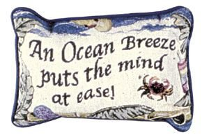 An Ocean Breeze Decorative Tapestry Toss Pillow